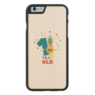 One Year old first Birthday Party Zpuo7 Carved® Maple iPhone 6 Slim Case