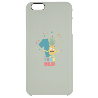 One Year old first Birthday Party Zpuo7 Clear iPhone 6 Plus Case