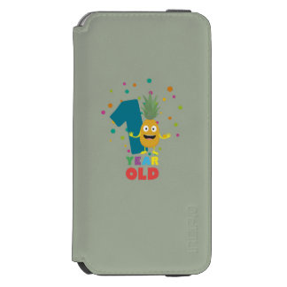 One Year old first Birthday Party Zpuo7 Incipio Watson™ iPhone 6 Wallet Case