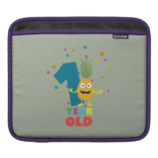 One Year old first Birthday Party Zpuo7 iPad Sleeve