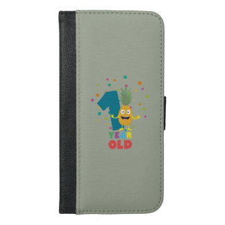 One Year old first Birthday Party Zpuo7 iPhone 6/6s Plus Wallet Case