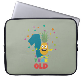 One Year old first Birthday Party Zpuo7 Laptop Sleeve