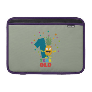 One Year old first Birthday Party Zpuo7 MacBook Air Sleeves