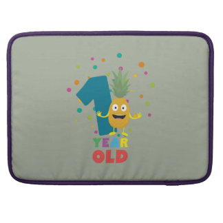 One Year old first Birthday Party Zpuo7 MacBook Pro Sleeve