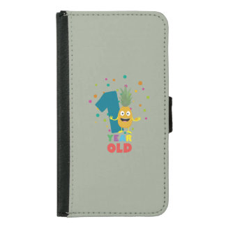 One Year old first Birthday Party Zpuo7 Samsung Galaxy S5 Wallet Case