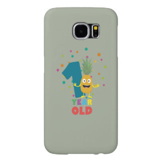 One Year old first Birthday Party Zpuo7 Samsung Galaxy S6 Cases