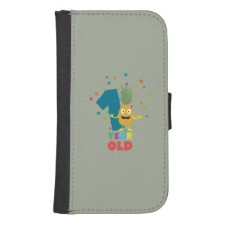 One Year old first Birthday Party Zpuo7 Samsung S4 Wallet Case