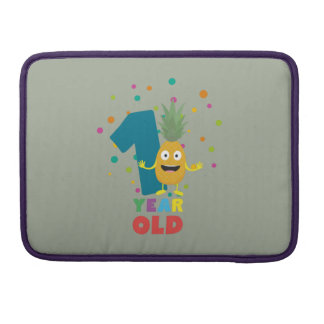 One Year old first Birthday Party Zpuo7 Sleeves For MacBook Pro
