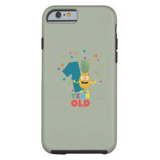 One Year old first Birthday Party Zpuo7 Tough iPhone 6 Case