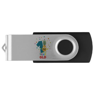 One Year old first Birthday Party Zpuo7 USB Flash Drive