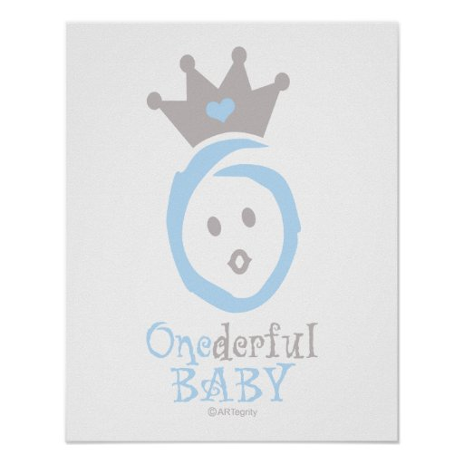 ONEderful BABY (blue) Poster