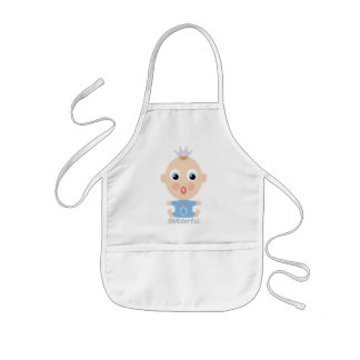 ONEderful BABY Face - blue Kids Apron
