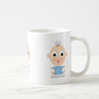 ONEderful BABY Face - blue Coffee Mugs