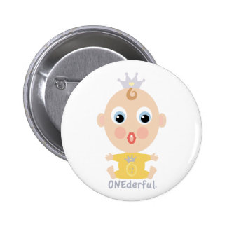 ONEderful BABY Face - yellow Buttons