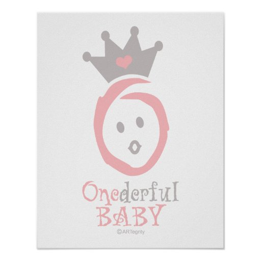 ONEderful BABY (pink) Posters
