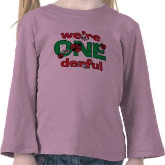 ONEderful Ladybug Twins 1st Birthday T Shirts