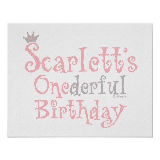 ONEderful Scarlett Print