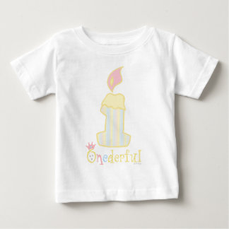 ONEderful Yellow Candle Baby T-Shirt