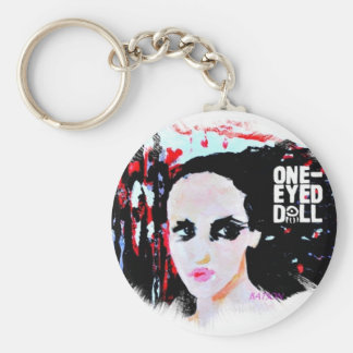 oneeyed doll  painting w logo keychain