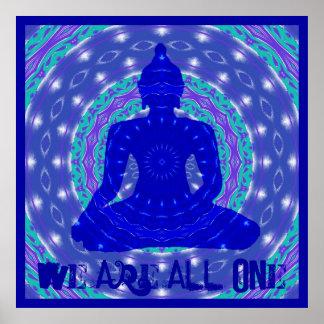 Oneness Mandala with Buddha Poster