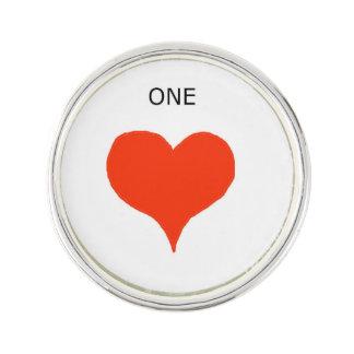 """One's heart"" Lapel Pins! Lapel Pin"
