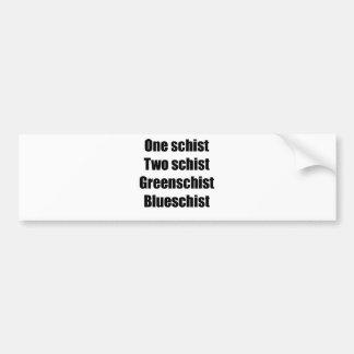 oneschistblack bumper sticker