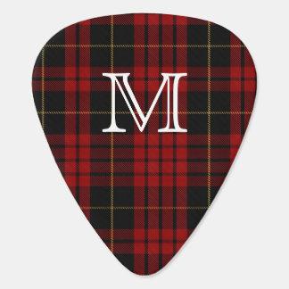 Onglet de guitare de monogramme de plaid de tartan