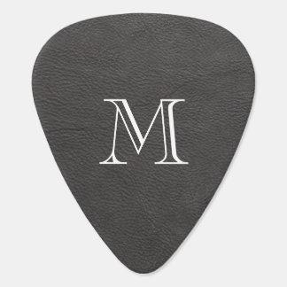 Onglet de guitare en cuir gris de monogramme de Fa
