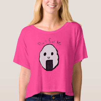 "Onigiri ""Don't Eat Me"" Boxy Crop Top Tee"