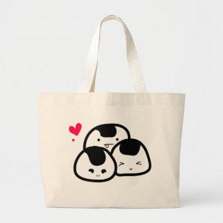 onigiri friends large tote bag
