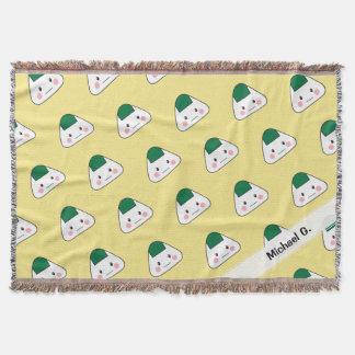 Onigiri omusubi Japanese rice ball seaweed nori Throw Blanket