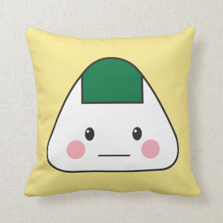 Onigiri omusubi Japanese rice ball seaweed nori Throw Pillow