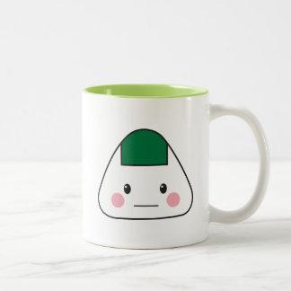 Onigiri omusubi Japanese rice ball seaweed nori Two-Tone Coffee Mug
