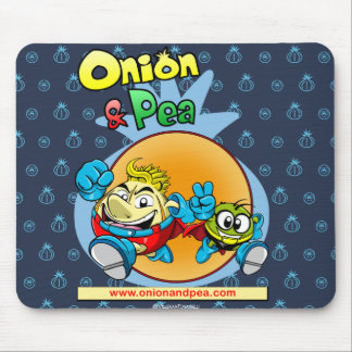 Onion & blue Pea mousepad. Mouse Pad