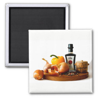 Onion capsicum and pepper -2 inch square magnet