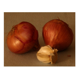 Onion & Garlic Postcard