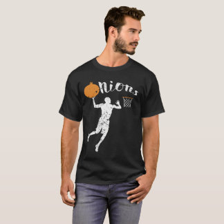 Onion Going into a Basketball T-Shirt