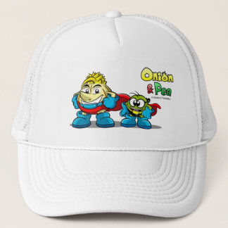 Onion & Pea characters hat. Trucker Hat