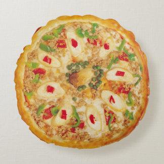 Onion Pizza Round Pillow