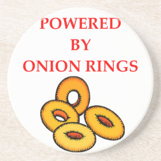 ONION RINGS BEVERAGE COASTERS