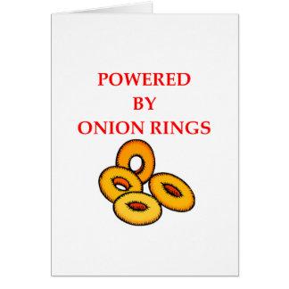 ONION RINGS CARD
