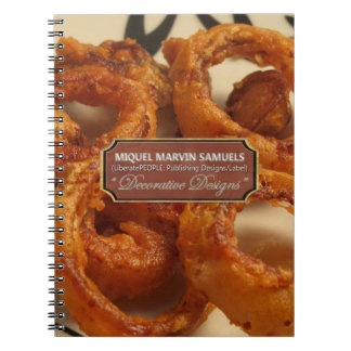 Onion Rings Decorative Modern Food Notebook