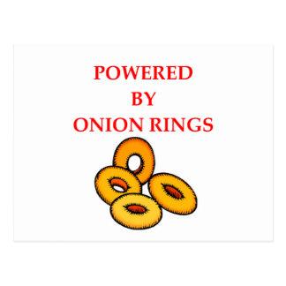 ONION RINGS POSTCARD