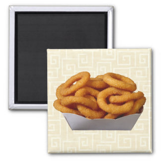 Onion Rings Square Magnet