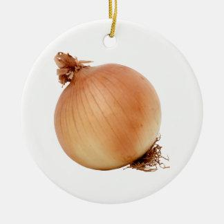 Onion Round Ceramic Ornament