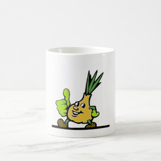 Onion With Thumbs Up Coffee Mug
