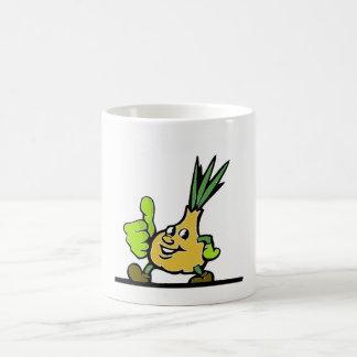 Onion With Thumbs Up Coffee Mug