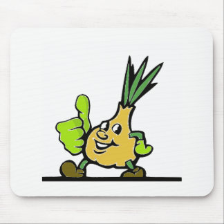 Onion With Thumbs Up Mouse Pad