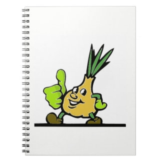 Onion With Thumbs Up Notebooks