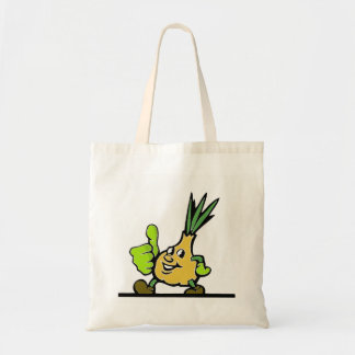 Onion With Thumbs Up Tote Bag